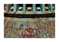 7 Bolts (PeteZab) Tags: rust nut bolt old 7 pattern texture decay peterzabulis seven saturated