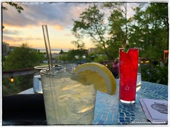 Drinks at Swing (CIAphotos) Tags: view water drinks outside outdoorseating swingwinebar olympiawa olympia beet beetvodka gingerbeer ginger beer lemon