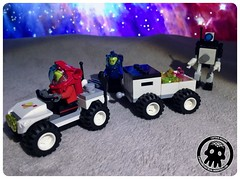 48-16 Filling the Trailer (captainmutant) Tags: afol classic space lego ideas legospace legography photography minifig minifigs minifigure minifigures moc sciencefiction science fiction scifi exploration brickography toy custom