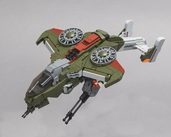 "AV-22 Sparrowhawk (from ""Halo Wars"") (Velocites) Tags: halo sparrowhawk hawk wars lego moc scifi vtol games 343 bungie xbox afol"