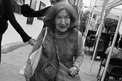 *** (.sl.) Tags: mexico mexique streetphotography mexicocity people portrait grandmother elder blackandwhite bw