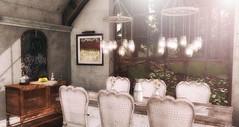 It is just  sweet and simple at the Farmhouse. (desiredarkrose) Tags: tarte ariskea decorationidea decor sldecor interior farmhouse dinning daisie appelfall
