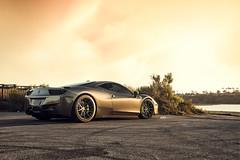 Grigio Silverstone Ferrari 458 Italia - Matte Black ADV1 ADV10 M.V2 SL (ADV1WHEELS) Tags: ferrari ferrari458 ferrari458italia 458italia luxurycar supercar grigiosilverstone adv1 adv1wheels forgedwheels customwheels ferrariwheels