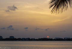 Sunset over the Nichupte lagoon / Закат над лагуной Ничупте (Vladimir Zhdanov) Tags: travel mexico yucatan sky cancun sea sunset sun cloud