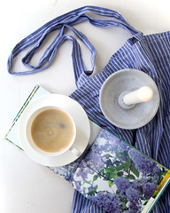 sunday (LovelyArts.de) Tags: coffee book candle blue bag accessoire accesoires flower flowers white home spring