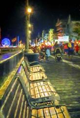 Looking down the Boardwalk at the Giant Ferris Wheel (PhotosToArtByMike) Tags: giantferriswheel boardwalk oceancitymaryland digitalpainting oc seaside oceancitymd familyorientedseasideresort ferriswheel townofoceancitymaryland easternshore seasideresort atlanticocean maryland md worcestercountymd vacation resort restaurant shops shopping