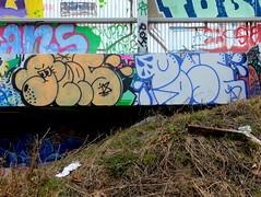 Tees & Pose (oerendhard1) Tags: graffiti streetart urban art vandalism illegal rotterdam oerendhard tees pose tunneltje overschie