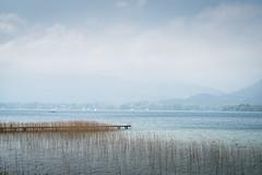Am See (Chris Buhr) Tags: see lake landschaft landscape tegernsee bayern bavaria himmel wolken clouds sky blue steg leica m10 noctilux 75mm