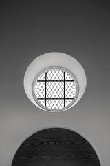 B&W Church Window 3-0 F LR 4-21-18 J053 (sunspotimages) Tags: church cathedral catholic catholicchruch catholiccathedral windows window blackwhite blackandwhite bw monochrome stmarys maryland stmarysmaryland southernmaryland md