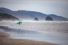 Oregon coast (RaminN) Tags: cannonbeach oregon unitedstates us surfer waves ocean pacific northwest beach