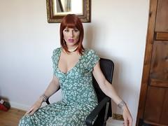 Summer Dress (Juliette Noir) Tags: trans transvestite transgender crossdresser cd cdtv dress green summer wig red auburn crossdressing