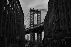 Brooklyn 99 (Andy Kennelly) Tags: brooklyn view ny new york city bridge bw longexposure