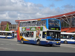 Stagecoach 18043 Mansfield (Guy Arab UF) Tags: stagecoach east midlands 18043 mx53fmj transbus trident president mansfield bus station nottinghamshire buses