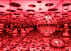 Infinity Mirrored Room - Aftermath of Obliteration of Eternity, by Yoyoi Kusama, AGO, Toronto, Ontario (duaneschermerhorn) Tags: art gallery museum installation lights dots lightshow colors colours mirrors infiniteimages repeatedimages