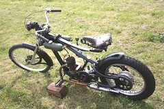 """The """"Bitser"""" Scratch Built off road motorcycle. (Yesteryear-Automotive) Tags: scratch built motorbike motorcycle the bitser heath robinson classic bike"""