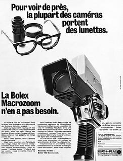 Bolex Macrozoom movie camera advertisement.