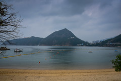 Deep Water Bay Beach - Hong Kong (mbell1975) Tags: hongkong hongkongisland hk deep water bay beach hong kong hkg island china sar south southern harbour harbor waterfront shore shoreline sea pacific ocean sand mount mountian hill hillside mountainside 香港