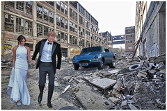 A scene we'd like to see: Harry and Megan renting a flat in downtown Detroit! (Fotofricassee) Tags: slum abandoned building factory harry megan royalty tires junk