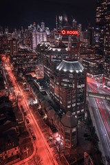 Toronto nights (reinaroundtheglobe) Tags: toronto ontario canada city cityshot cityscape buildings skyscrapers offices nightphotography longexposure highangleview urban
