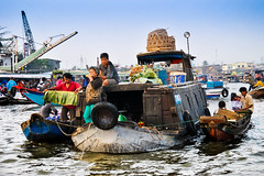 Floating Market; Can Tho, Mekong Delta (Valdas Photo Trip) Tags: vietnam can tho mekong delta river floating market street photography asia travel