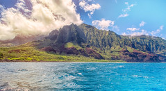 We're Back! (Amazing Aperture Photography) Tags: landscape seascape nikon nikond800 hawaii kauai napalicoast nature sky ocean sea mountains volcanic pacificocean clouds blue green travel adventure beautiful coast cliff rockformation