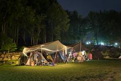 Night view in camping (Wunkai) Tags: nantoucounty taiwan renaitownship 南投縣 仁愛鄉 新生村 伴天聊露營區 camping campsite nightview canopy 天幕 coleman4s 山林巷 夜景 露營