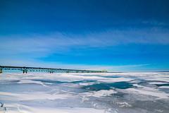 Frozen Mackinaw Straights (mobius2016) Tags: mackinaw island city winter frozen ice bridge sleeping bear dunes michigan
