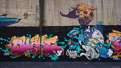IMGP9783 Street art (Claudio e Lucia Images around the world) Tags: murales graffiti streetart milano vialemonza ferrovia via pontano milanese pentax pentaxk3ii sigma sigma1020 pittura face faccia murale joker green smile muro