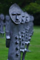 Sculpture Symmetry (Yorkshire Pics) Tags: yorkshire yorkshiresculpturepark ysp 1105 11052018 11thmay 11thmay2018 sculpture zakove blackandbluetheinvisibleman blackandbluetheinvisiblemanandthemasqueofblackness sculpturearmy armyofsculptures