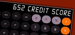 652 credit score