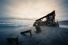 Enthroned in Silence | Wreck of the Peter Iredale (CM Goodenbury (FloodSpectre)) Tags: abandoned urbanexploration urbex ue boat ship steel rust wreck shipwreck iredale barque sea beach waves sky sand horizon fortstevens oregon 2018 usa floodspectre cmgoodenbury canoneos6d sigma1224mmf4dghsmart clouds ocean