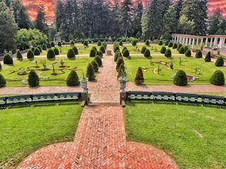 Sonnenberg Gardens & Mansion Historic Park ~ Canandaigua NY _ View From Balcony