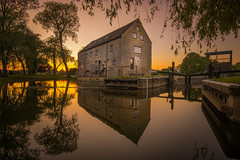 Sunday evening sunset (unciepaul) Tags: oundle mill sunset sunday reflections trees watermill water 12mm sonya6000