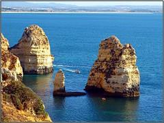 Ponta da Piedade (Lagos) (Portugal) (sky_hlv) Tags: pontadapiedade lagos algarve portugal europe europa oceanoatlántico atlanticocean playa beach praia acantilado acantilados cliffs