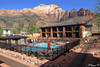 Hotel in Springdale - Zion National Park (Yvonne Oelsner) Tags: zionnationalpark nature landscape scenery utah hotel swimmingpool springdale mountains cliffs canyon water bestwestern cozy