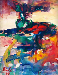 悲しみ (alice 240) Tags: 悲しみ tristezza artist watercolor painting expression surrealism expressionism surreal traditionalart museum abstract modernart visualpoetry visualart artistic illustration creative gallery alice240 atelier240art art alicealicjacieliczka fantasy poetry dream magic contemporaryart watercoloronpaper shockofthenew