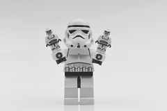 It's Twins (or are they clones ?) (MinifigNick) Tags: starwars stormtrooper lego minifigure nanofigure afol
