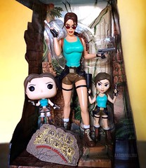 Happy #EarthDay from the Worldly Lara Croft! (AaronMalibu) Tags: pop funko rockcandy 1999 playmates tombraider earthday
