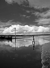 Beach Boy (GI Les) Tags: happybeautifulchildrenwalk watersea dawlish warren beach mirror reflection devon low tide