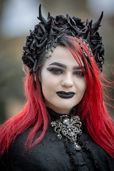 Timeless (Pureo) Tags: whitby whitbygothfestival gothic beauty portrait portraiture hair makeup pose costume dramatic goth canon5dmk3 canon70200f28isusm2 wgf