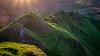 The Dragons Backbone (Rob..Hall) Tags: robhall squarephotography england uk derbyshire landscape hills sunset rays