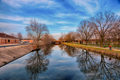 Late Afternoon at the Canal (kendoman26) Tags: hdr nikhdrefexpro2 imcanal iandmcanal imcanaliandmcanal morrisillinois nikon nikond7100 tokinaatx1228prodx tokina tokina1228 enjoyillinois travelillinois reflection reflections wetreflection