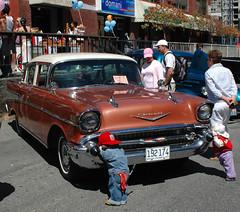 1957 Chevrolet 4-door sedan (D70) Tags: nikon d70 2885mm f3545 ƒ100 283mm 1400 200 yaletown car show vancouver bc canada august 6th 2005 1957 chevrolet 4door sedan