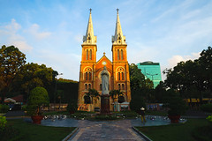 Notre dame cathedral, Ho chi minh city Vietnam (Patrick Foto ;)) Tags: architecture asia asian basilica brick building cathedral catholic catholicism chi christ christianity church city colonial construction culture dame famous french historical history ho holy indochina lady landmark mary minh monument morning notre notredame people praying religion religious saigon sky spirituality statue symbol tourism tourist tower travel urban vietnam vietnamese virgin hochiminhcity hồchíminh vn