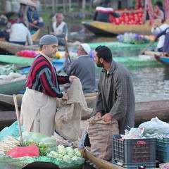 A trade (Nagarjun) Tags: floatingvegetablemarket flowers dallake kashmir srinagar commerce trade veggies kohlrabi dawn morning sunrise green