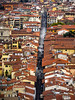 Florence Street (Feldore) Tags: florence street narrow view viewpoint terracotta italy italian roofs campanile red old