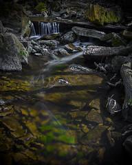 Stream (Faron Dillon) Tags: stream brook river water flow canon sigma35mmart winding nature hamilton ontario green moss art rocks grey
