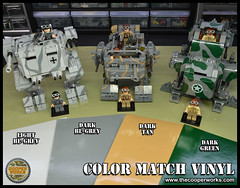Colored_vinyl_01 (Cooper Works 70) Tags: lego stickers custom colors mech mecha army battle ww2 wwii