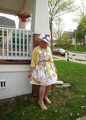 The Girl Next Door (Laurette Victoria) Tags: milwaukee mothersday dress hat pumps floralprint