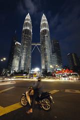 Malaysia Ride (fredMin) Tags: travel long exposure asia towers motobike lights petronas kuala lumpur malaysia high city fujifilm xt1 fujinon 1024